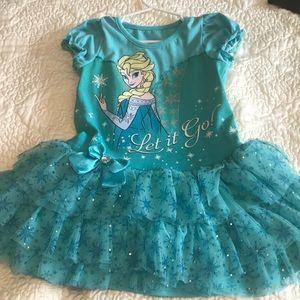 Adorable Elsa Disney Frozen blue dress